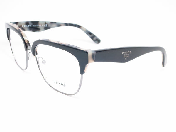 Prada VPR 30R ROK-1O1 Top Black / White havana Eyeglasses - Eye Heart Shades - Prada - Eyeglasses - 1