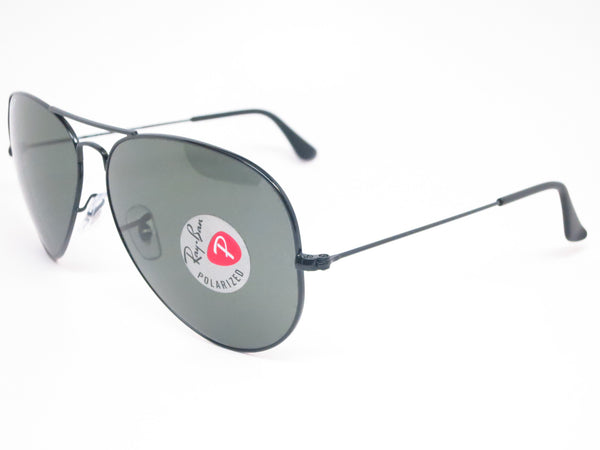 Ray-Ban RB 3025 Aviator Large Metal 002/58 Black Polarized Sunglasses - Eye Heart Shades - Ray-Ban - Sunglasses - 1
