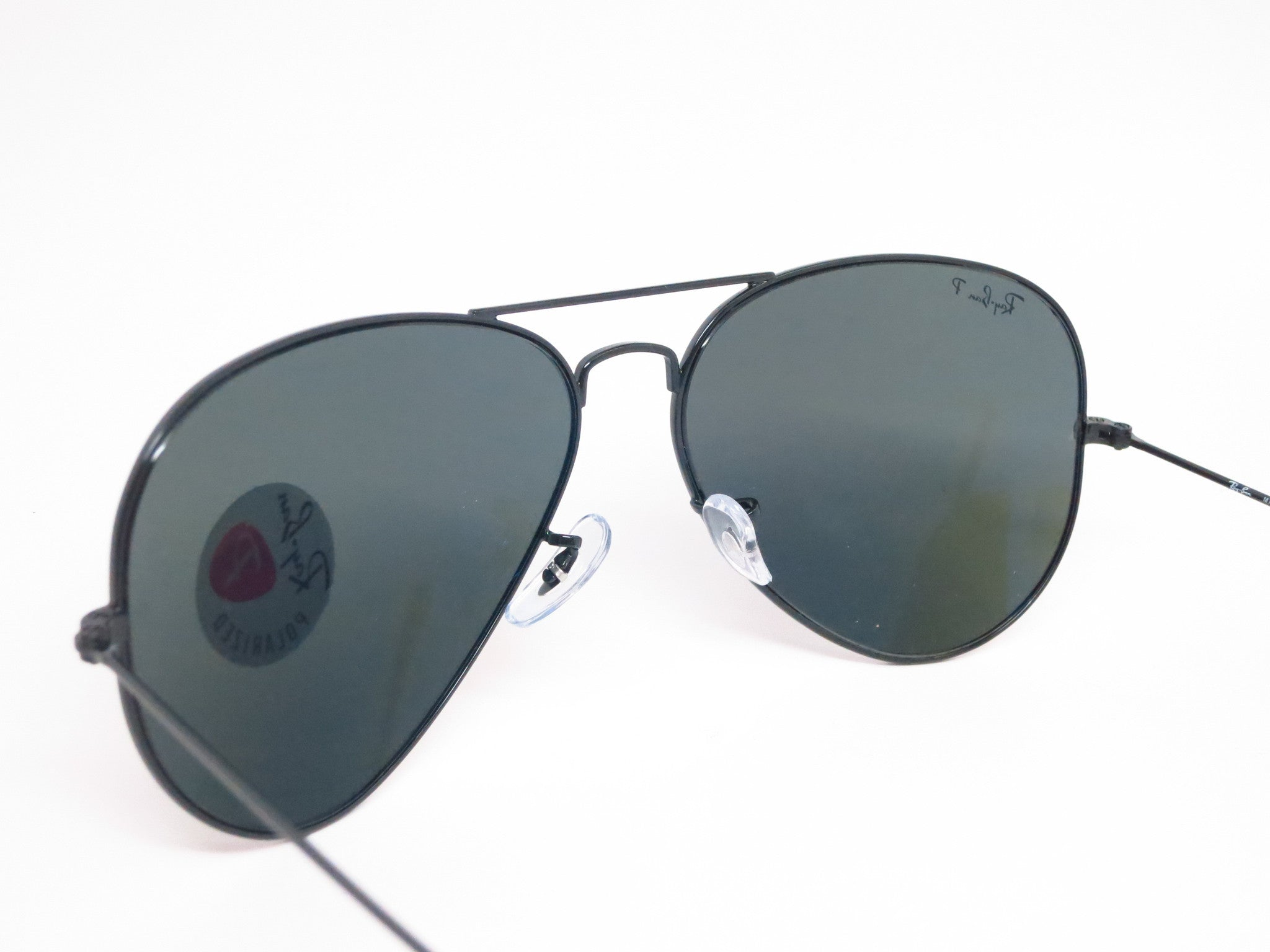 Ray ban rb 3025 aviator large metal 002 58 black polarized for Ray ban aviator miroir homme