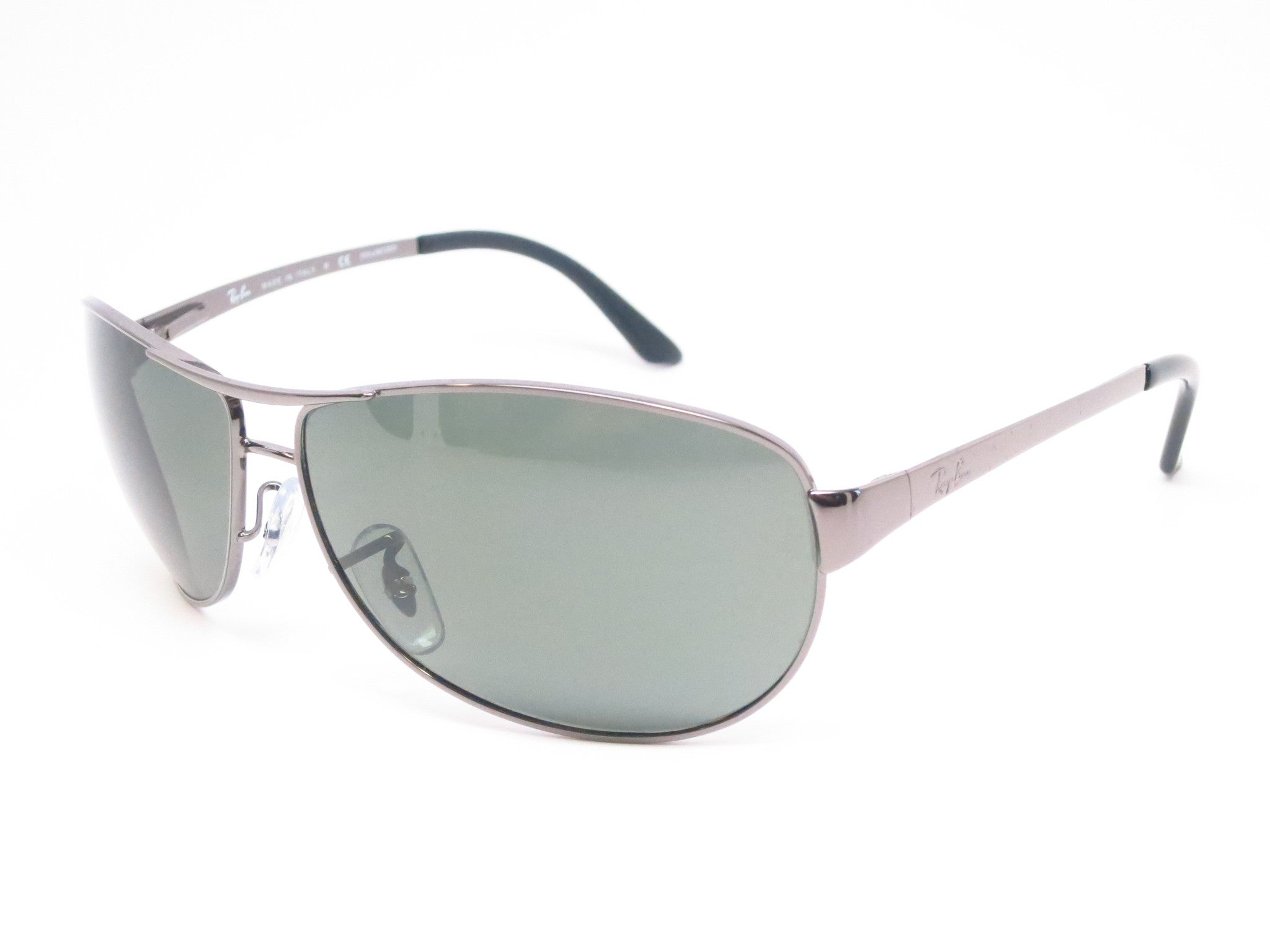 d4db8aa9f4 Ray-Ban RB 3342 Warrior 004/58 Gunmetal Polarized Sunglasses - Eye Heart  Shades ...