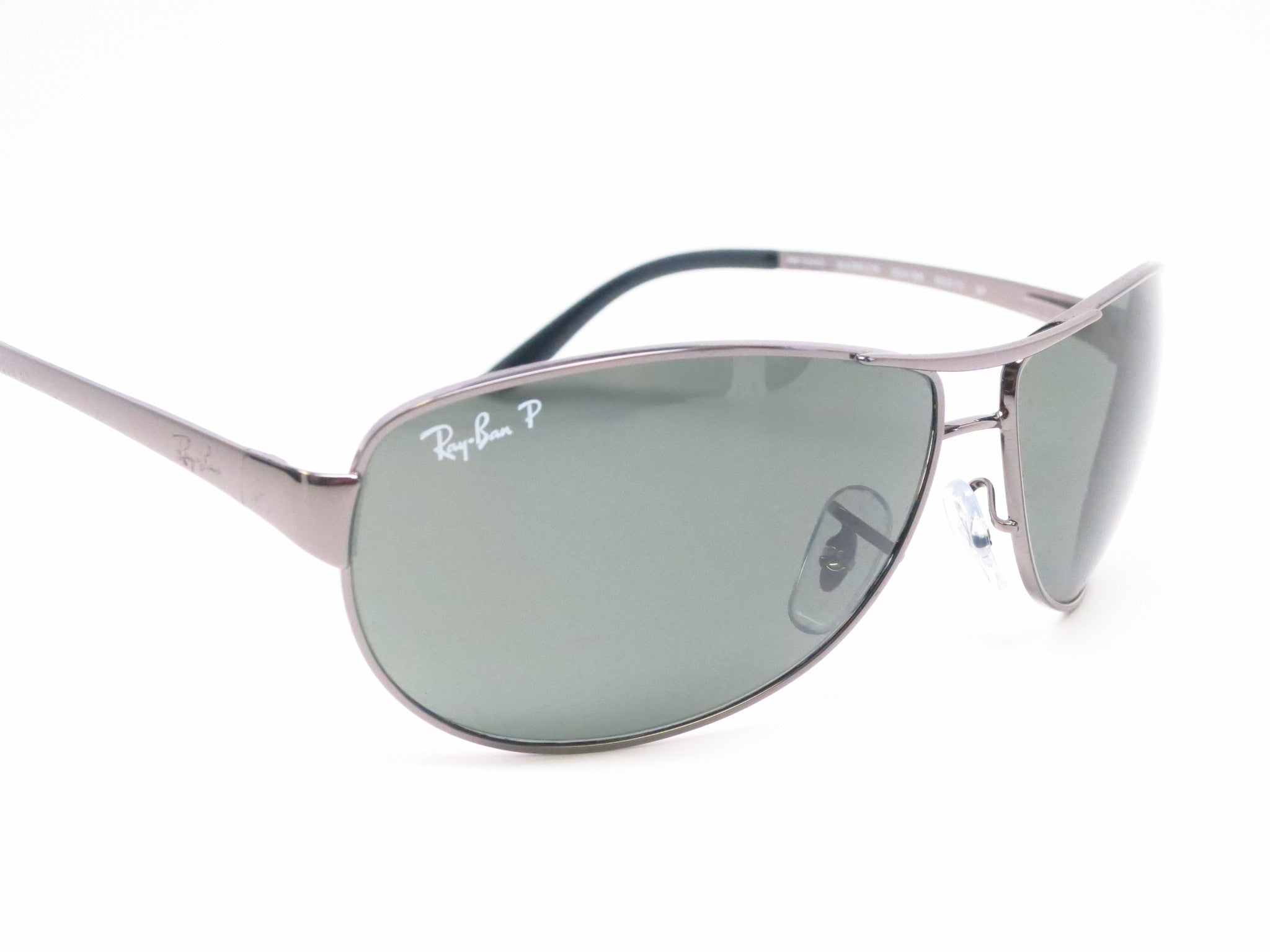 c0ed4e48d0 ... Ray-Ban RB 3342 Warrior 004/58 Gunmetal Polarized Sunglasses - Eye  Heart Shades ...