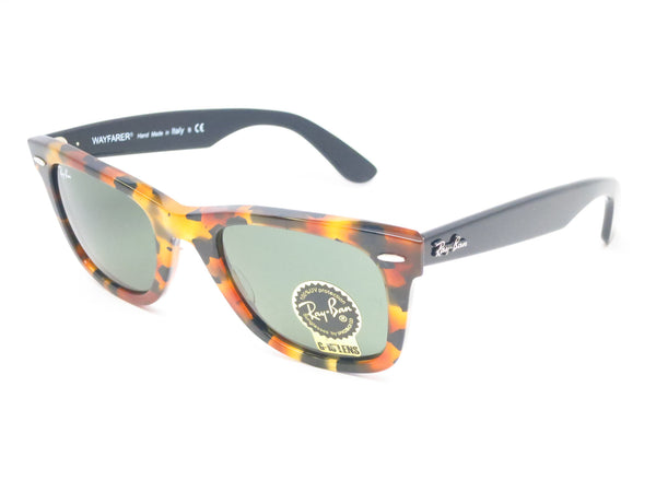 Ray-Ban RB 2140 Original Wayfarer 1157 Spotted Black Havana Sunglasses - Eye Heart Shades - Ray-Ban - Sunglasses - 1