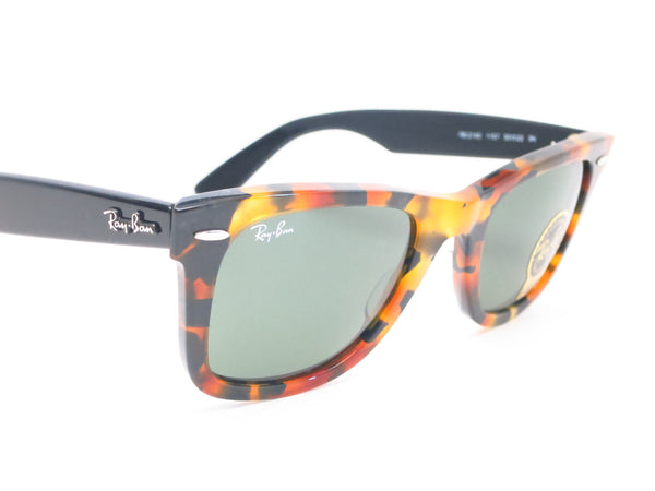 Ray-Ban RB 2140 Original Wayfarer 1157 Spotted Black Havana Sunglasses - Eye Heart Shades - Ray-Ban - Sunglasses - 3