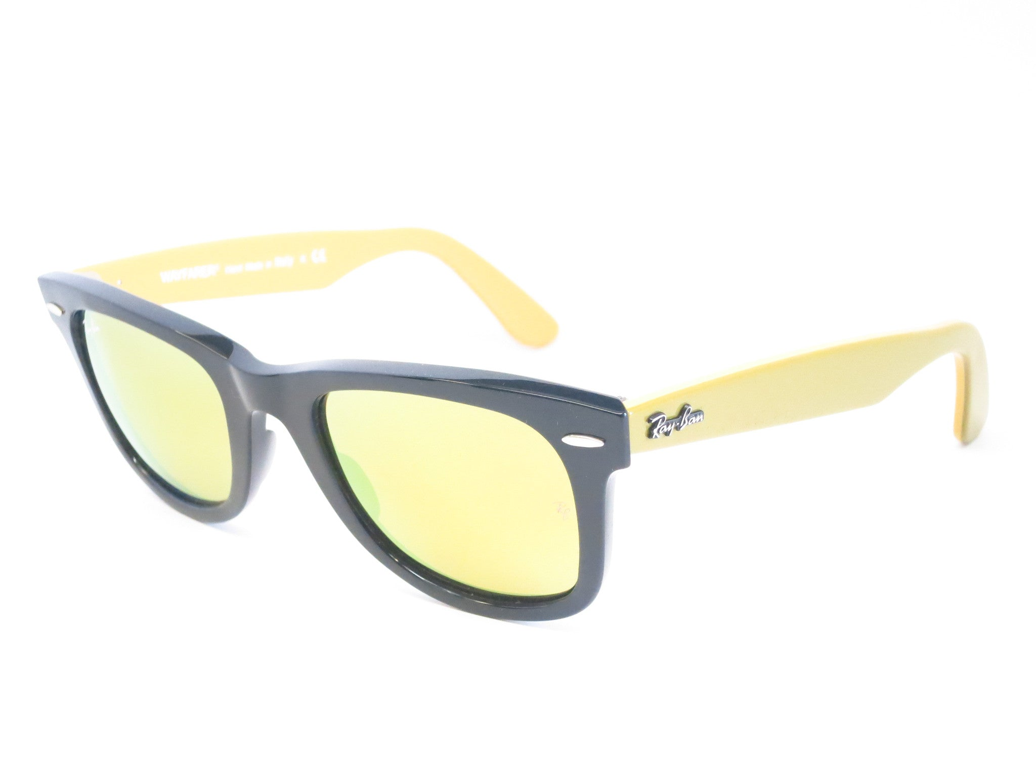 ray ban rb2140 wayfarer sunglasses yellow  ray ban rb 2140 original wayfarer 1173/93 black sunglasses eye heart shades