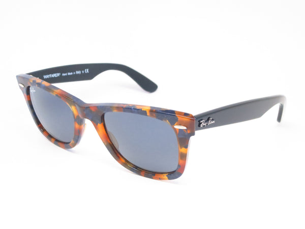 Ray-Ban RB 2140 Original Wayfarer 1158/R5 Spotted Blue Havana Sunglasses - Eye Heart Shades - Ray-Ban - Sunglasses - 1