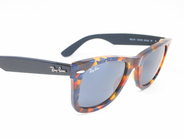 Ray-Ban RB 2140 Original Wayfarer 1158/R5 Spotted Blue Havana Sunglasses - Eye Heart Shades - Ray-Ban - Sunglasses - 3