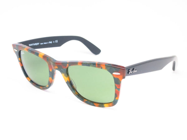 Ray-Ban RB 2140 Original Wayfarer 1159/4E Spotted Green Havana Sunglasses - Eye Heart Shades - Ray-Ban - Sunglasses - 1