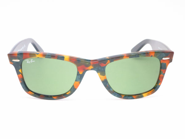 Ray-Ban RB 2140 Original Wayfarer 1159/4E Spotted Green Havana Sunglasses - Eye Heart Shades - Ray-Ban - Sunglasses - 2