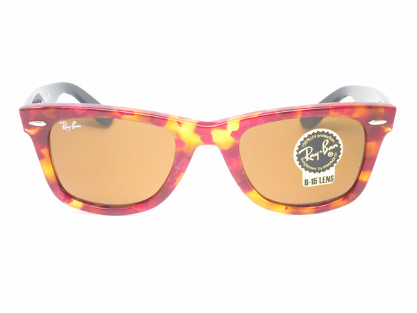 Ray-Ban RB 2140 Original Wayfarer 1161 Spotted Red Havana Sunglasses - Eye Heart Shades - Ray-Ban - Sunglasses - 2