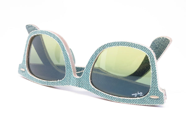 Ray-Ban RB 2140 Original Wayfarer 1166/3M Jean Green Sunglasses - Eye Heart Shades - Ray-Ban - Sunglasses - 12