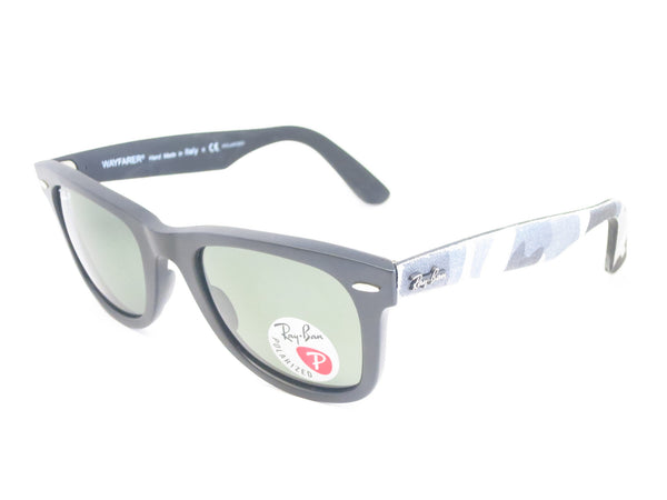Ray-Ban RB 2140 Original Wayfarer 6066/58 Black Camo Polarized Sunglasses - Eye Heart Shades - Ray-Ban - Sunglasses - 1