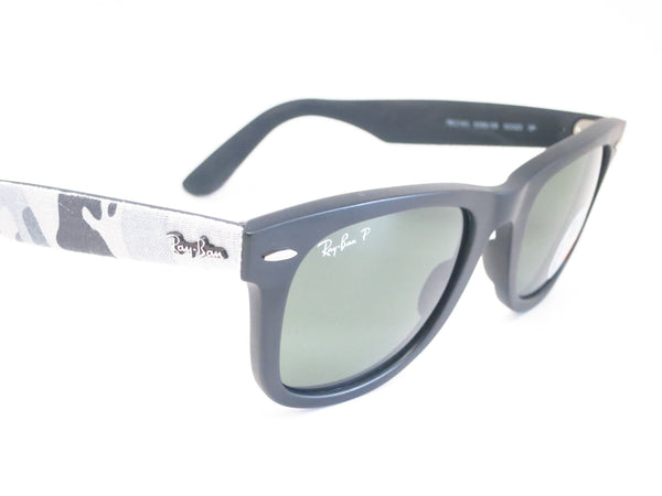 Ray-Ban RB 2140 Original Wayfarer 6066/58 Black Camo Polarized Sunglasses - Eye Heart Shades - Ray-Ban - Sunglasses - 3