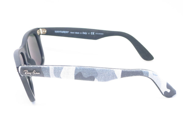 Ray-Ban RB 2140 Original Wayfarer 6066/58 Black Camo Polarized Sunglasses - Eye Heart Shades - Ray-Ban - Sunglasses - 4