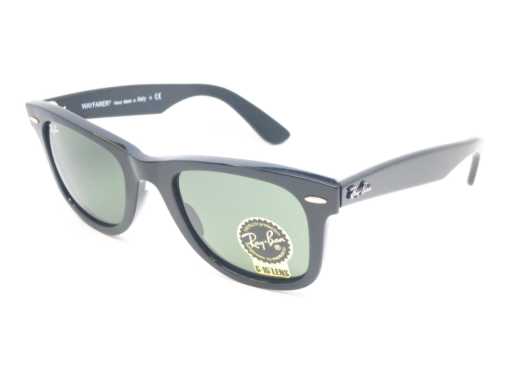 Ray-Ban RB 2140 Original Wayfarer 901 Black Sunglasses - Eye Heart Shades -  Ray ...