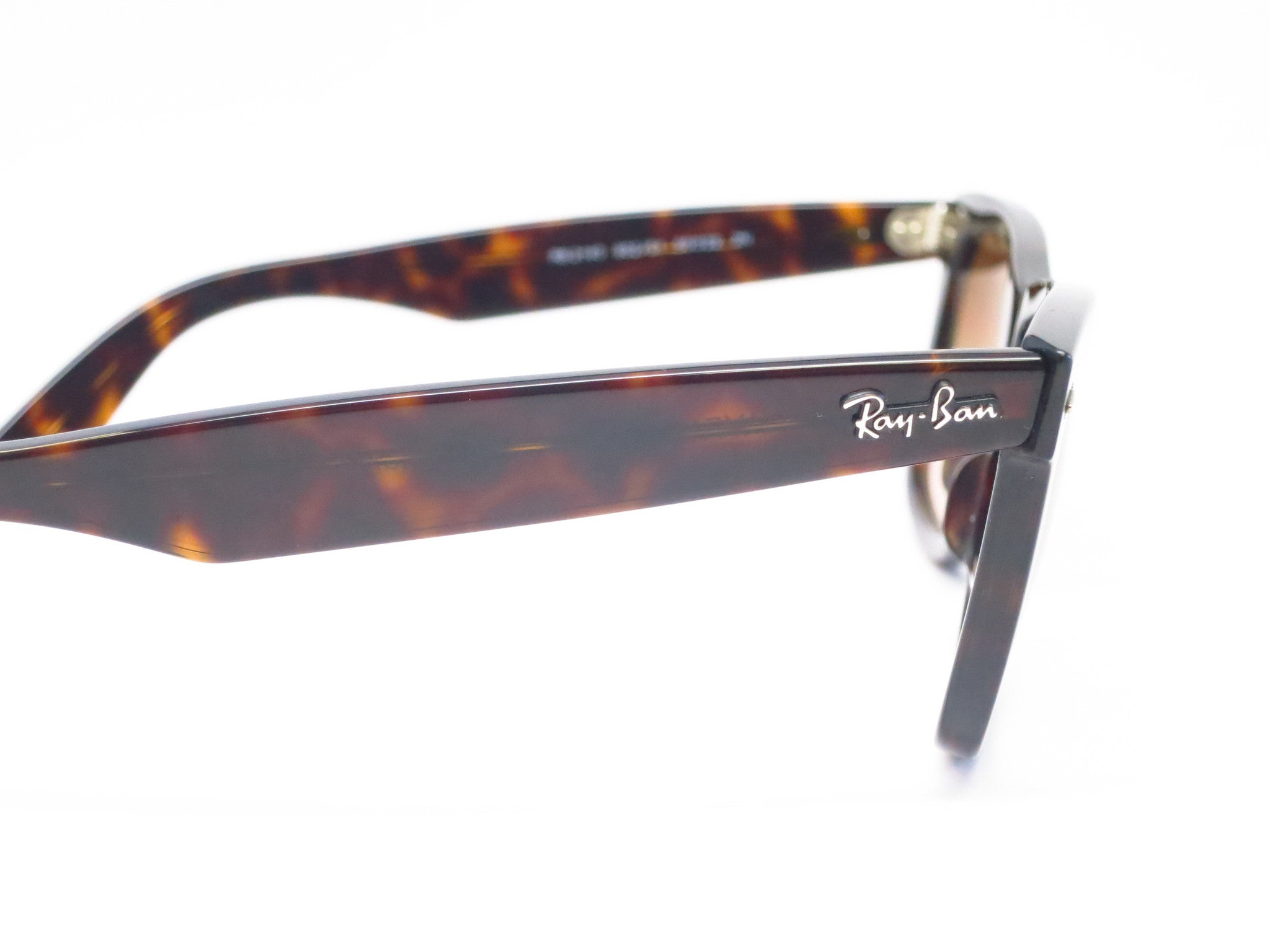 21fe0fcb2ba ... Ray-Ban RB 2140 Original Wayfarer 902 51 Tortoise Sunglasses - Eye  Heart Shades ...
