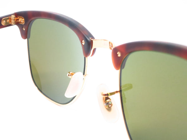 Ray-Ban RB 3016 Clubmaster 1145/17 Sand Havana / Gold Sunglasses - Eye Heart Shades - Ray-Ban - Sunglasses - 6