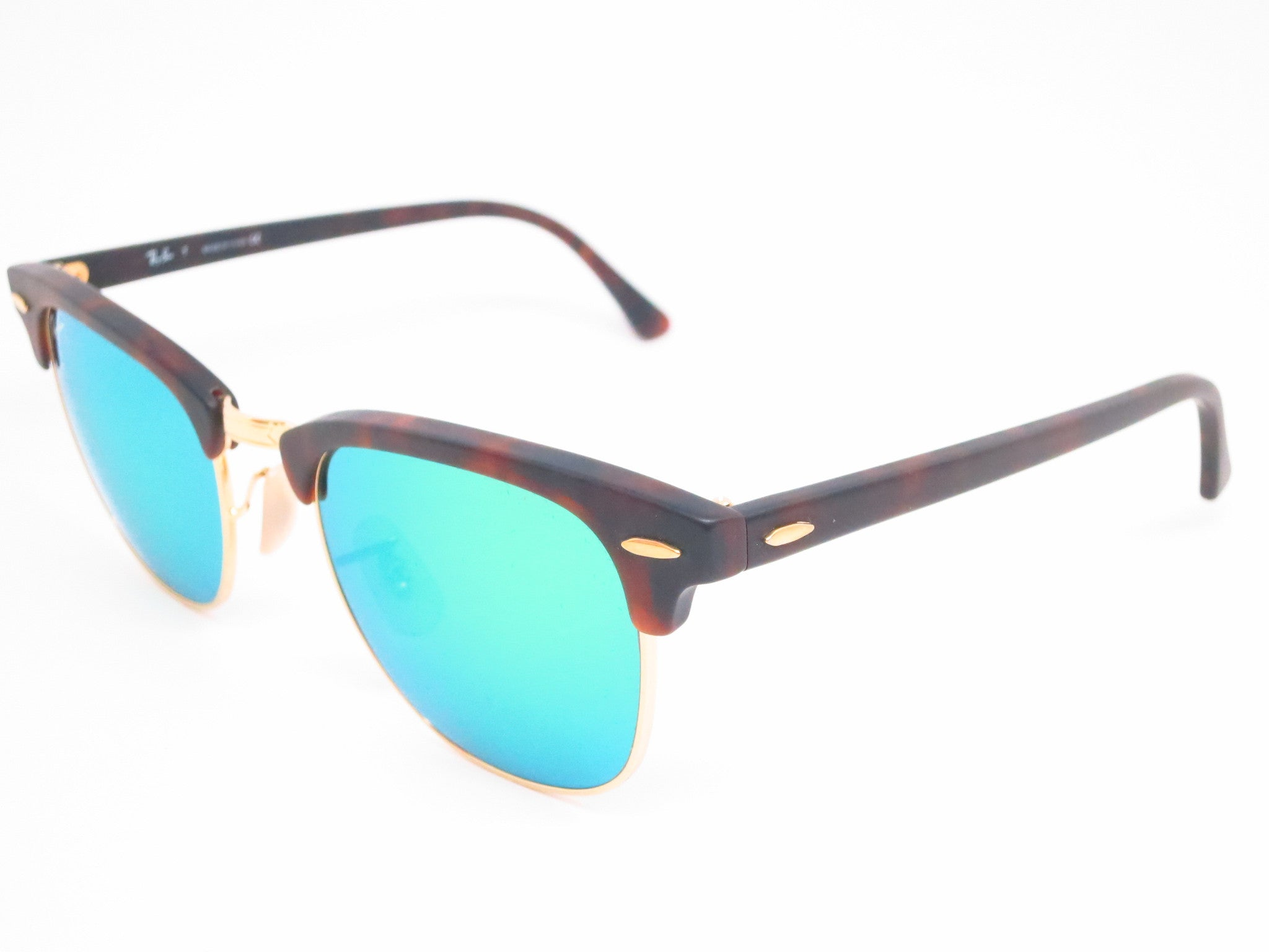5ee7bd75f5 Ray-Ban RB 3016 Clubmaster 1145 19 Sand Havana   Gold Sunglasses - Eye ...
