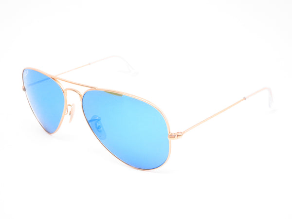 Ray-Ban RB 3025 Aviator 112/4L Matte Gold Polarized Sunglasses - Eye Heart Shades - Ray-Ban - Sunglasses - 1