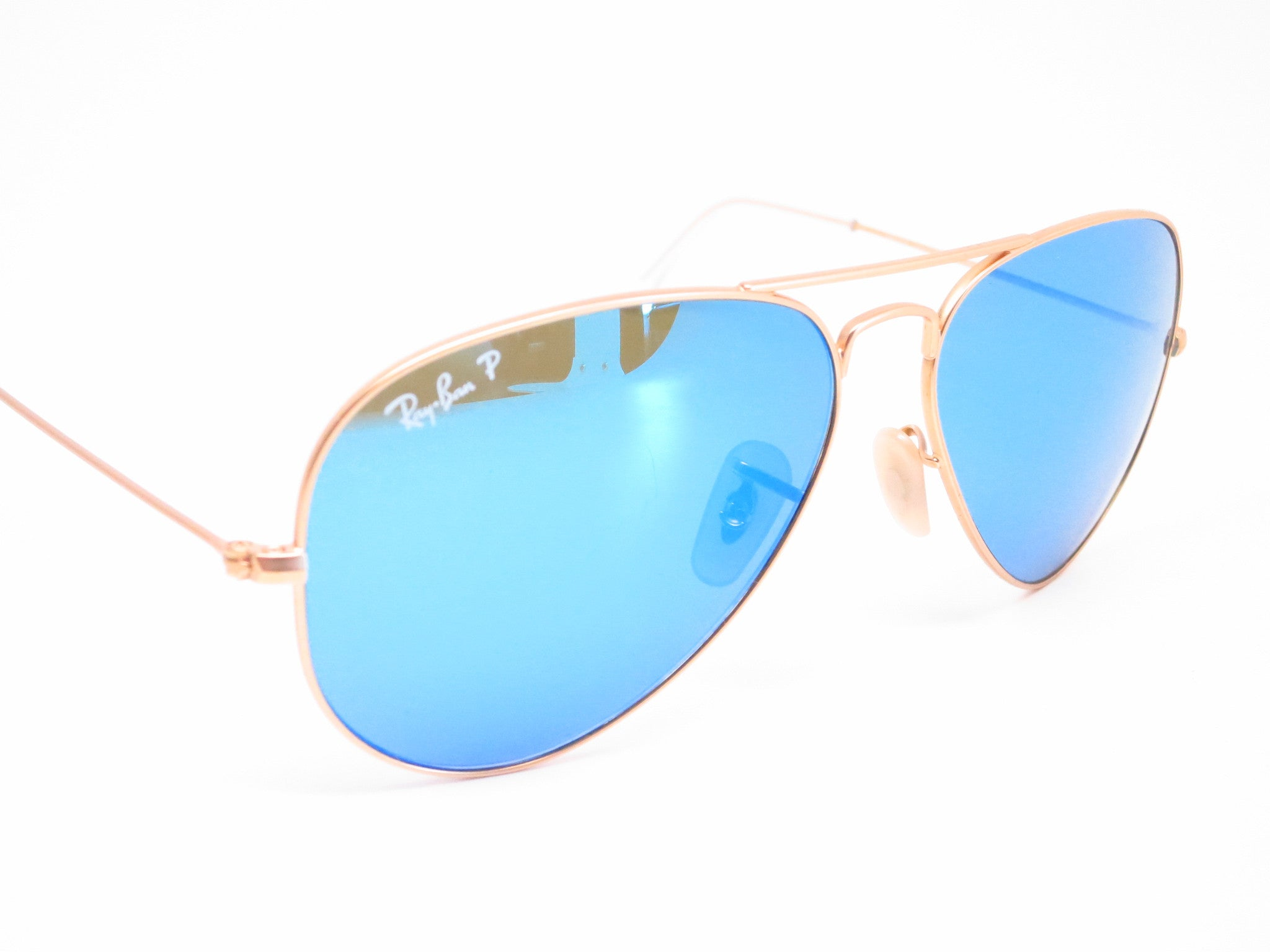 f3c63cf540 ... Ray-Ban RB 3025 Aviator 112 4L Matte Gold Polarized Sunglasses - Eye  Heart ...