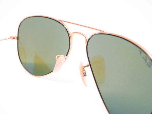 Ray-Ban RB 3025 Aviator 112/4L Matte Gold Polarized Sunglasses - Eye Heart Shades - Ray-Ban - Sunglasses - 4