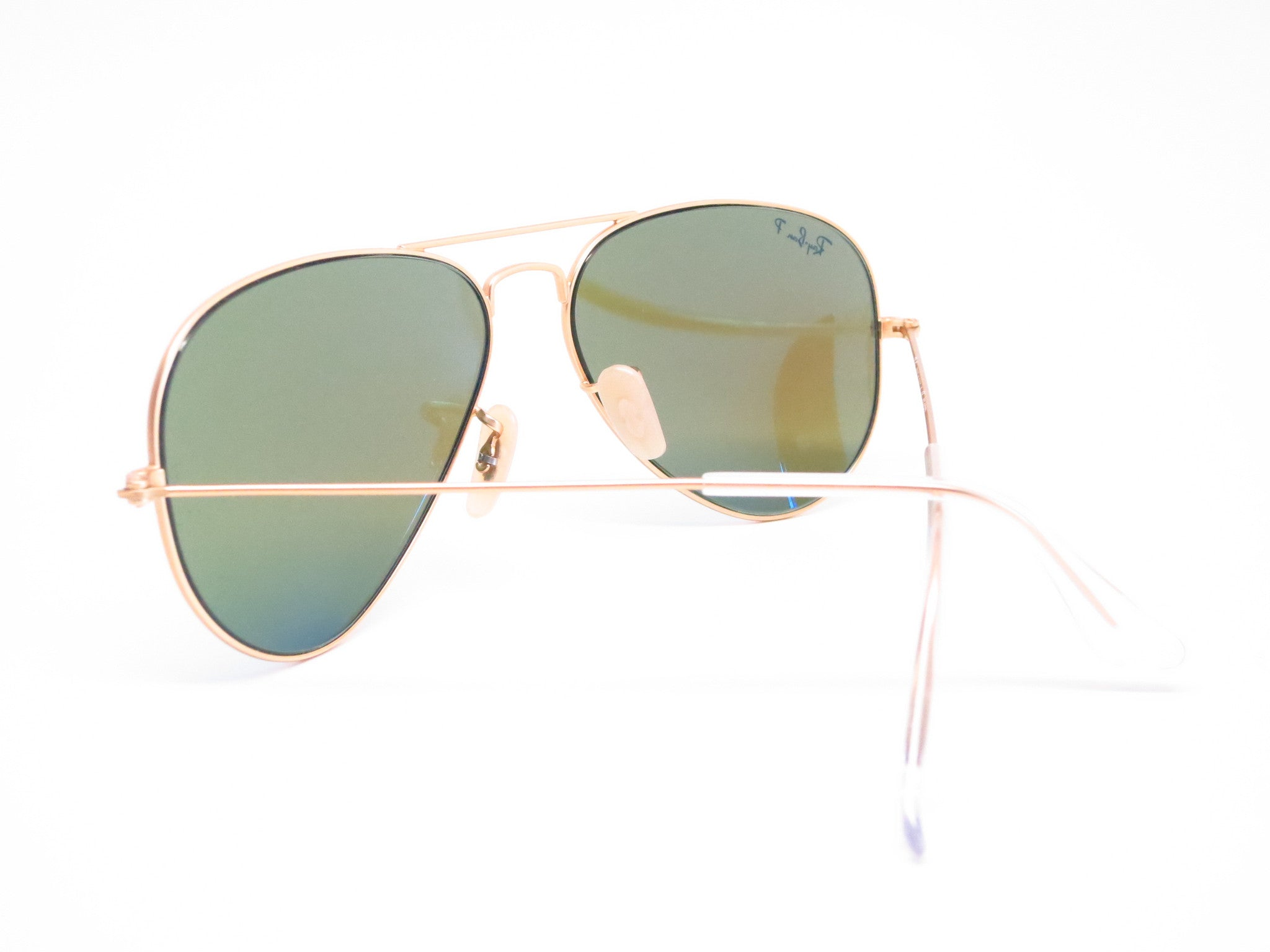 f4dd3d34b3 Ray Ban Rb3025 Aviator Sunglasses Gold Frame Crystal Blue Lens ...