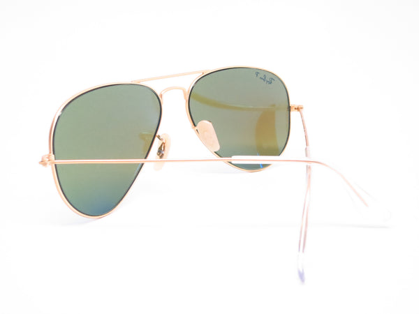 Ray-Ban RB 3025 Aviator 112/4L Matte Gold Polarized Sunglasses - Eye Heart Shades - Ray-Ban - Sunglasses - 8