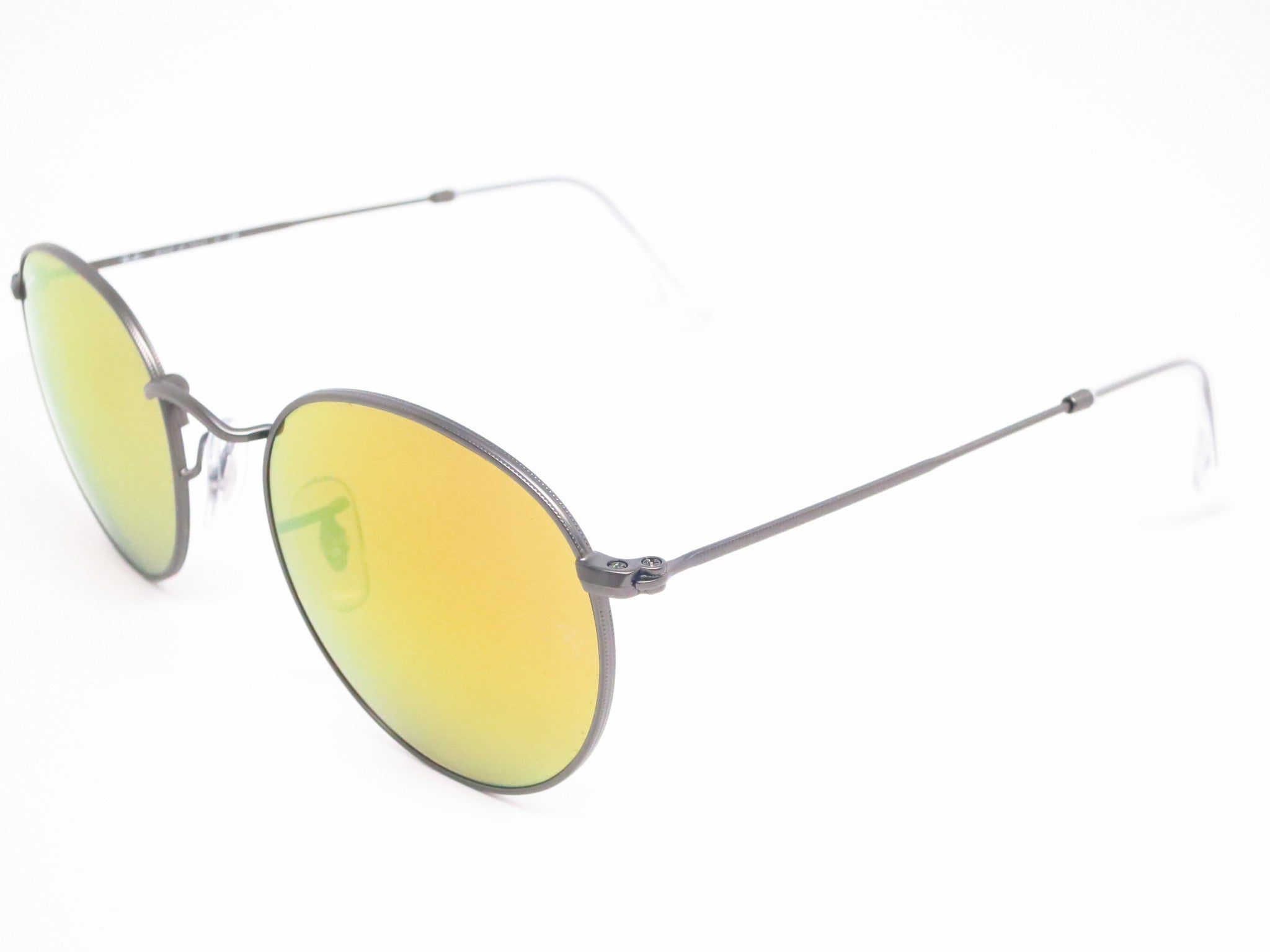 3158c9610d Ray-Ban RB 3447 Round Metal 029 93 Matte Gunmetal Sunglasses - Eye Heart ...