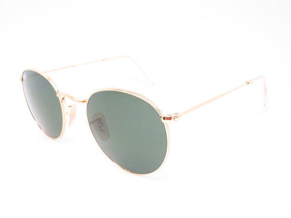 92b581431b8 Ray-Ban RB 3447 Round Metal 001 Gold Sunglasses - Eye Heart Shades