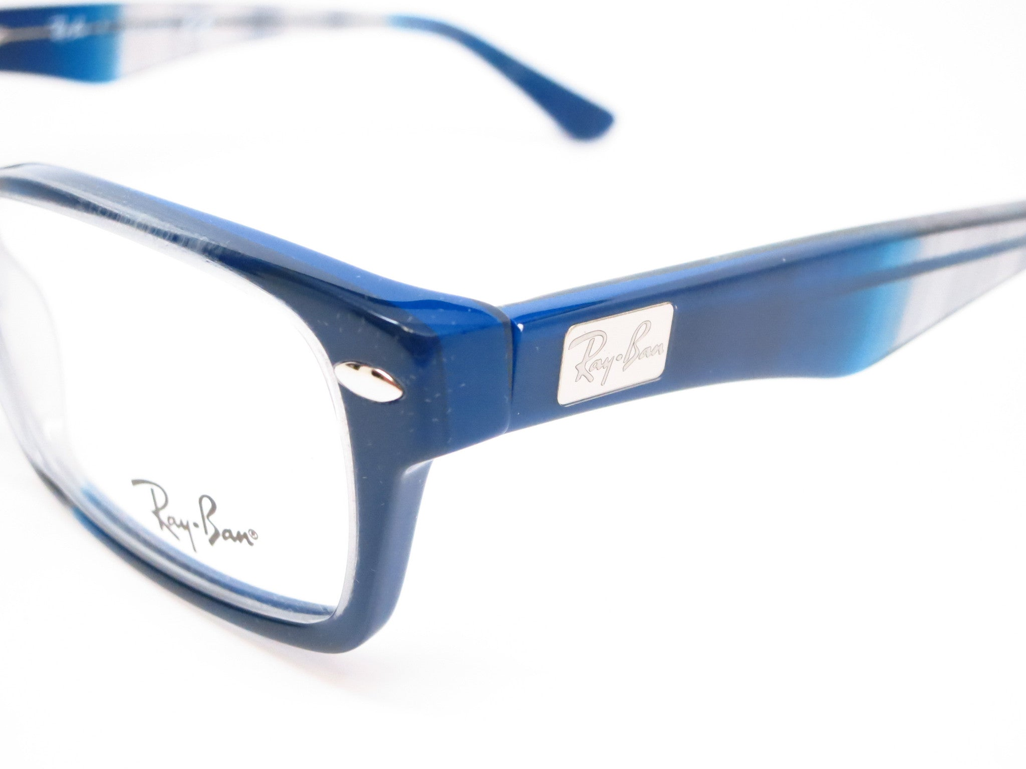 81f4203784d8 ... Ray-Ban RB 5206 Gradient Grey on Blue 5516 Eyeglasses - Eye Heart  Shades ...
