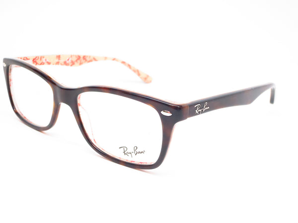 Ray-Ban RB 5228 Dark Havana on Beige Text 5057 Eyeglasses - Eye Heart Shades - Ray-Ban - Eyeglasses - 1