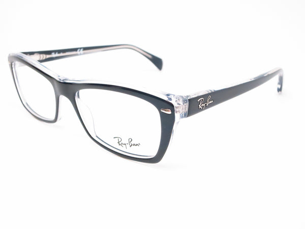 Ray-Ban RB 5255 Black on Transparent 5255 Eyeglasses - Eye Heart Shades - Ray-Ban - Eyeglasses - 1