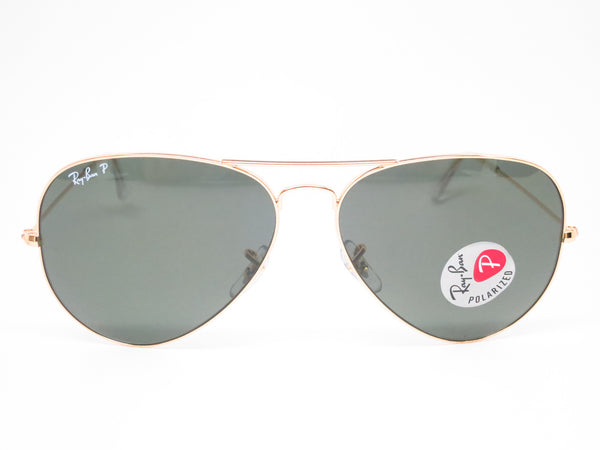 Ray-Ban RB 3025 Aviator Large Metal 001/58 Gold Polarized Sunglasses - Eye Heart Shades - Ray-Ban - Sunglasses - 2