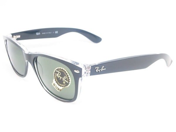 Ray-Ban RB 2132 New Wayfarer 6052 Top Black on Transparent Sunglasses - Eye Heart Shades - Ray-Ban - Sunglasses - 1