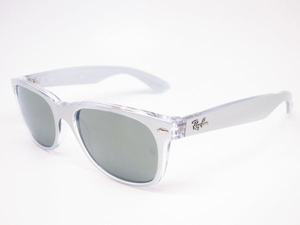 Ray-Ban RB 2132 New Wayfarer 6144/40 Top Brushed Silver Sunglasses - Eye Heart Shades - Ray-Ban - Sunglasses - 1