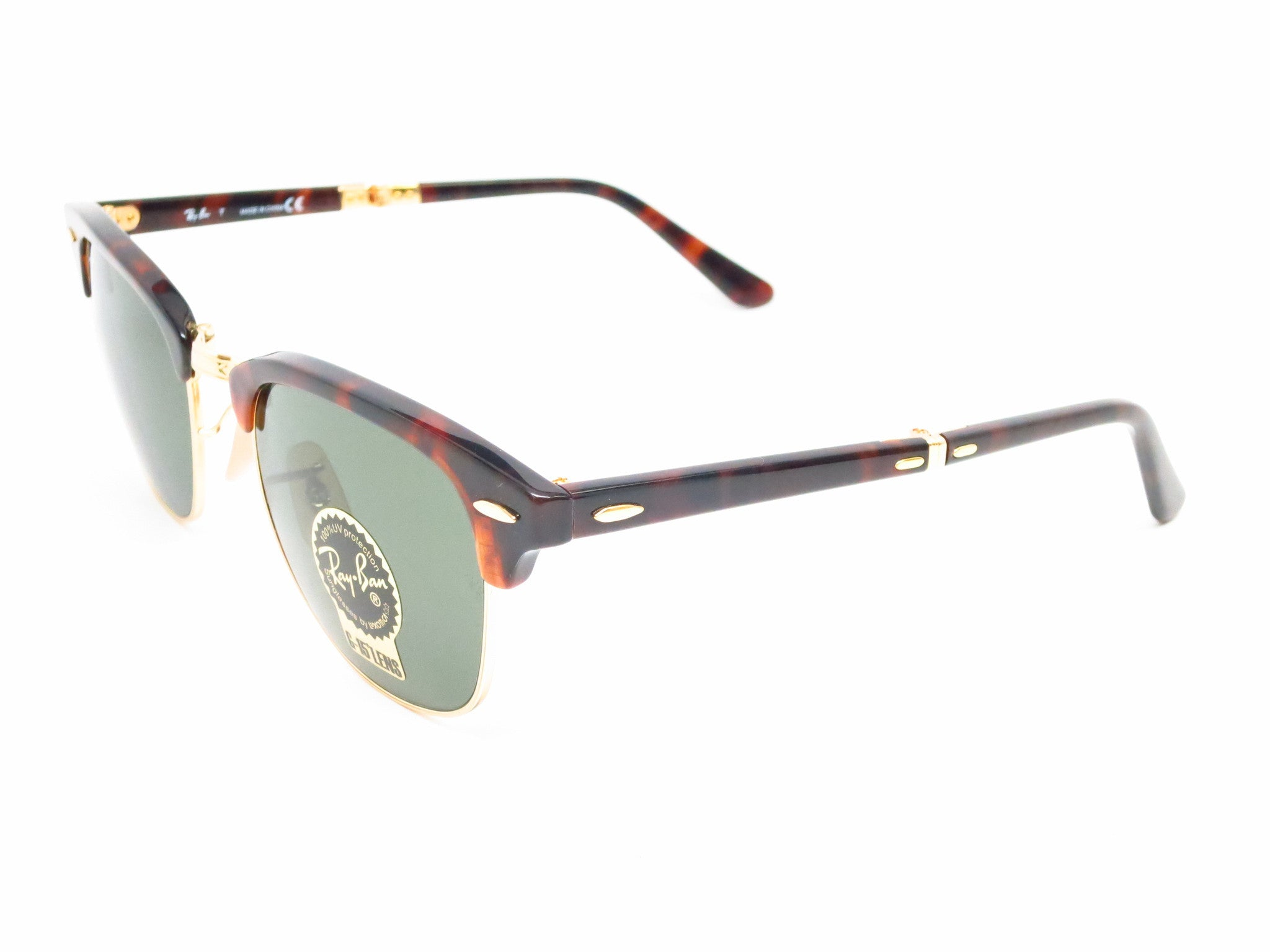 cc67f4553ac Ray-Ban RB 2176 Clubmaster Folding 990 Red Havana Sunglasses - Eye Heart  Shades ...