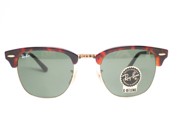 Ray-Ban RB 2176 Clubmaster Folding 990 Red Havana Sunglasses - Eye Heart Shades - Ray-Ban - Sunglasses - 2