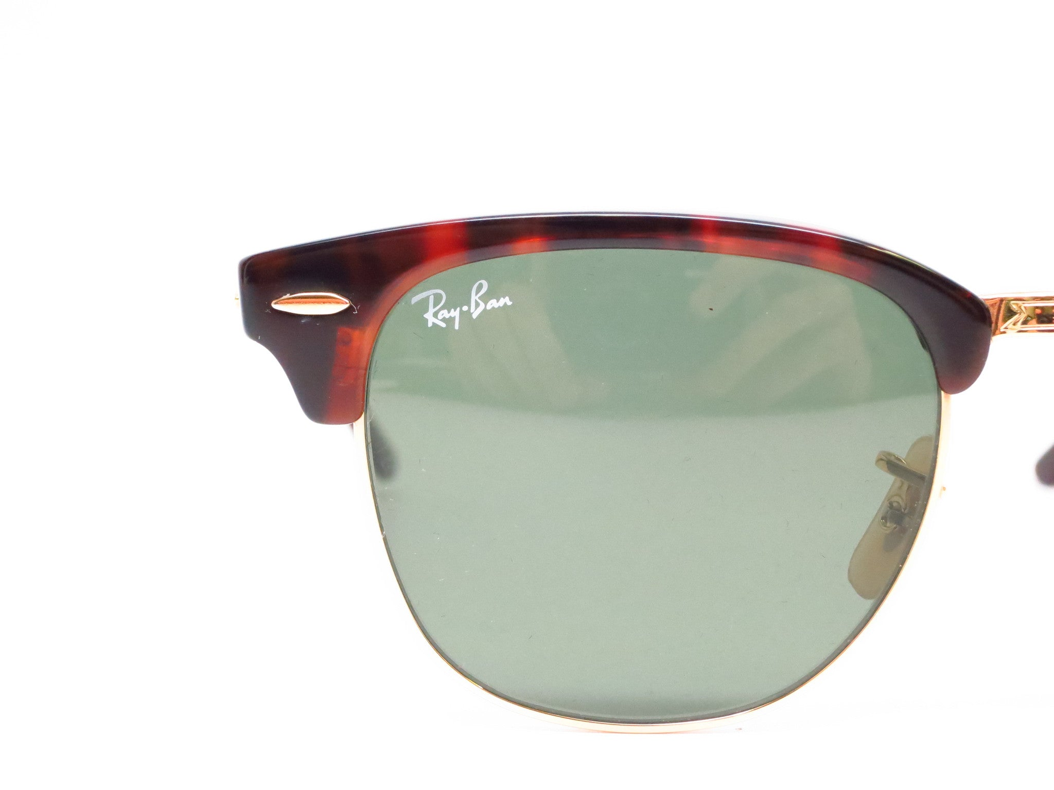 dbcbfa8d617 ... Ray-Ban RB 2176 Clubmaster Folding 990 Red Havana Sunglasses - Eye  Heart Shades ...