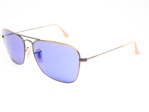 Ray-Ban RB 3136 Caravan 167/68 Demigloss Brushed Bronze Sunglasses - Eye Heart Shades - Ray-Ban - Sunglasses - 1