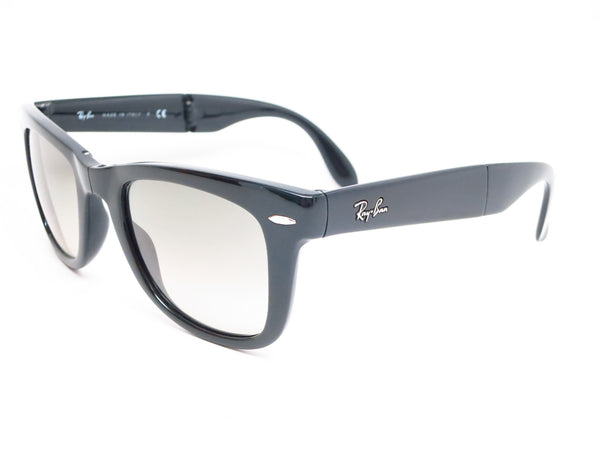 5ca424dc02 Ray-Ban RB 4105 Folding Wayfarer 601 32 Black Sunglasses - Eye Heart Shades