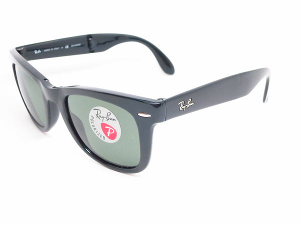 Ray-Ban RB 4105 Folding Wayfarer 601/58 Black Polarized Sunglasses - Eye Heart Shades - Ray-Ban - Sunglasses - 1