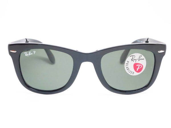 Ray-Ban RB 4105 Folding Wayfarer 601/58 Black Polarized Sunglasses - Eye Heart Shades - Ray-Ban - Sunglasses - 2
