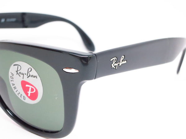 Ray-Ban RB 4105 Folding Wayfarer 601/58 Black Polarized Sunglasses - Eye Heart Shades - Ray-Ban - Sunglasses - 3
