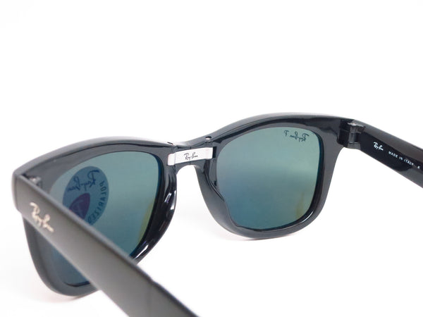 Ray-Ban RB 4105 Folding Wayfarer 601/58 Black Polarized Sunglasses - Eye Heart Shades - Ray-Ban - Sunglasses - 6