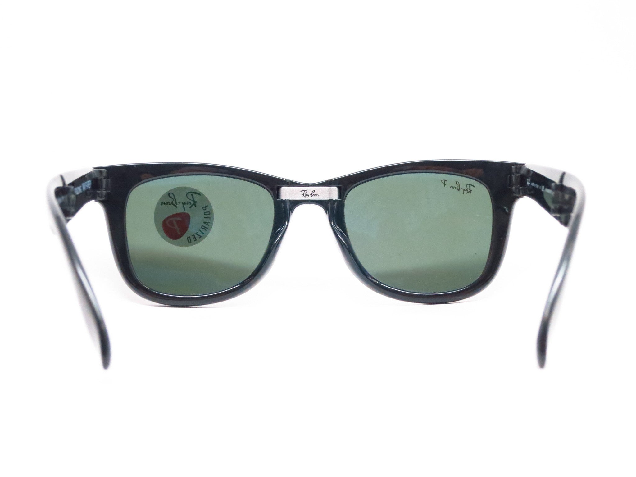 67b929b11d Ray-Ban RB 4105 Folding Wayfarer 601 58 Black Polarized Sunglasses - Eye  Heart