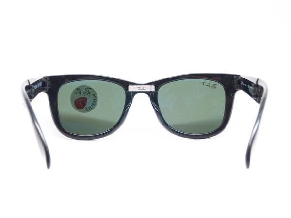 Ray-Ban RB 4105 Folding Wayfarer 601/58 Black Polarized Sunglasses - Eye Heart Shades - Ray-Ban - Sunglasses - 7