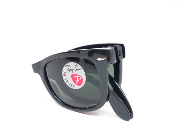 Ray-Ban RB 4105 Folding Wayfarer 601/58 Black Polarized Sunglasses - Eye Heart Shades - Ray-Ban - Sunglasses - 8