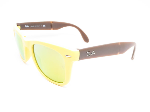 Ray-Ban RB 4105 Folding Wayfarer 6051/93 Yellow/Brown Sunglasses - Eye Heart Shades - Ray-Ban - Sunglasses - 1