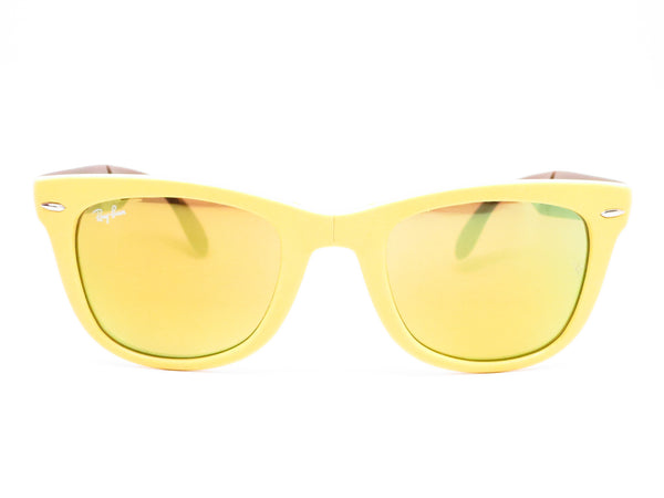Ray-Ban RB 4105 Folding Wayfarer 6051/93 Yellow/Brown Sunglasses - Eye Heart Shades - Ray-Ban - Sunglasses - 2