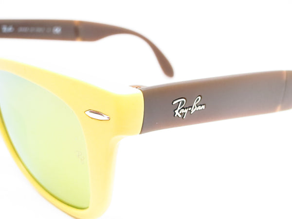 Ray-Ban RB 4105 Folding Wayfarer 6051/93 Yellow/Brown Sunglasses - Eye Heart Shades - Ray-Ban - Sunglasses - 3