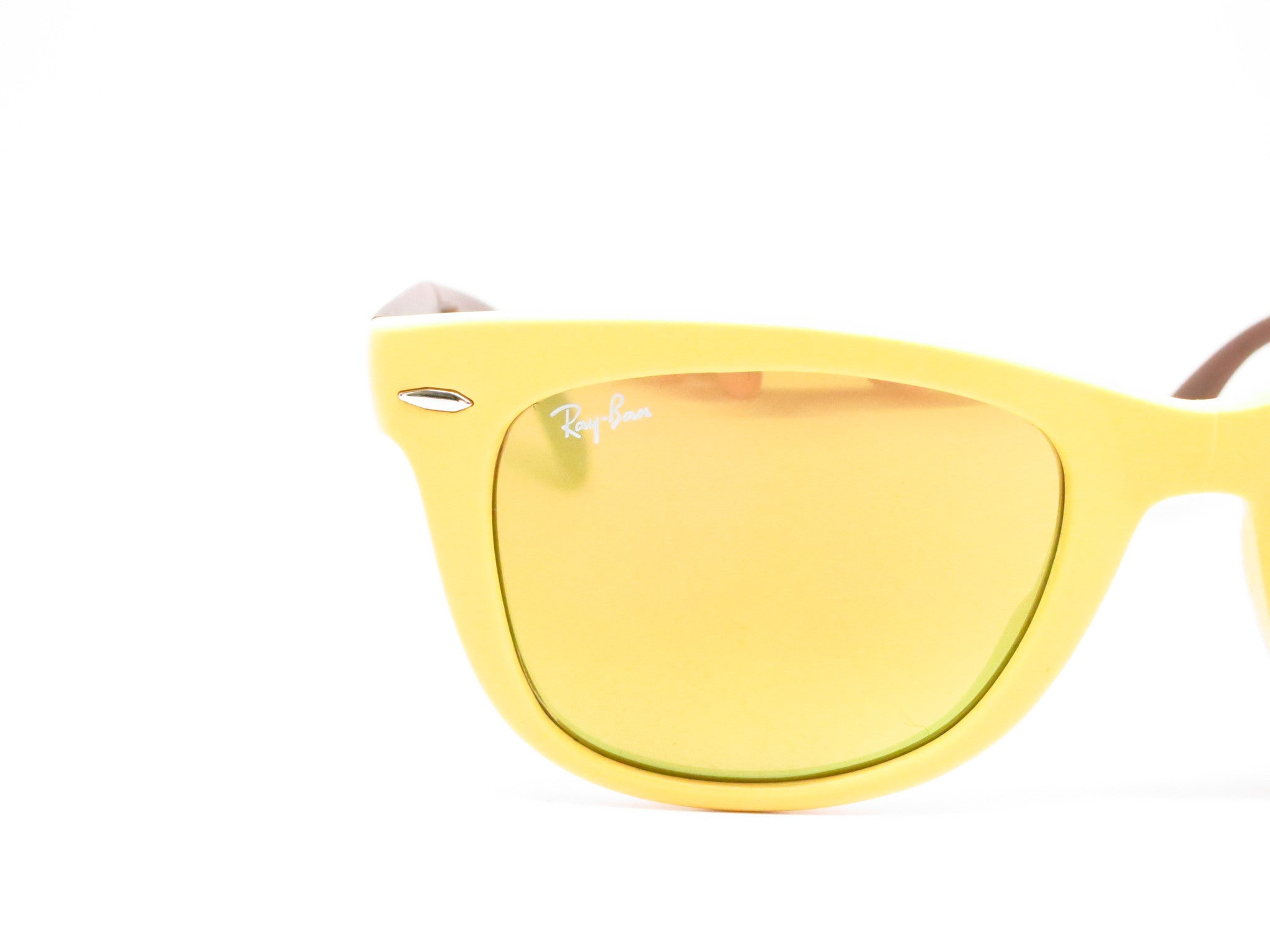 f03bd67e16 ... polarised lenses 50mm c80b9 ec9a8  discount ray ban rb 4105 folding  wayfarer 6051 93 yellow brown sunglasses eye 884ec 0aa7c